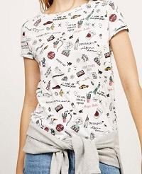 Dámská značková trička BERSHKA  4efab7f601
